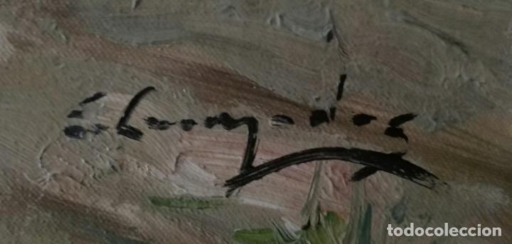 Arte: OLEO PAISAJE ESCENA COSTUMBRISTA FIGURATIVA VALENCIANA - Foto 4 - 118619643