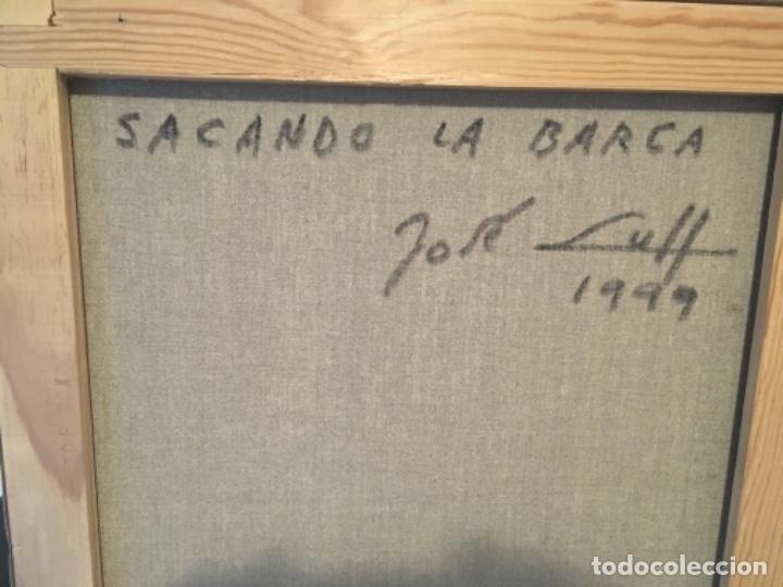 """Arte: Precioso óleo """"sacando la barca"""" de José Llull 1999.su mejor época dimensiones tela 95-75 - Foto 2 - 118654227"""
