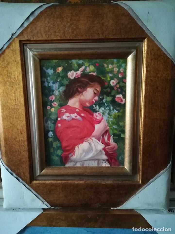 FIGURA EN JARDIN DE F.RUZ (Arte - Pintura - Pintura al Óleo Contemporánea )