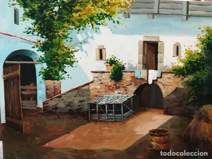 PATIO ANDALUZ POR TRILLO (Arte - Pintura - Pintura al Óleo Contemporánea )