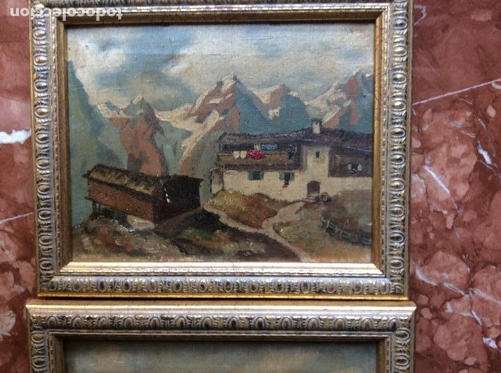 Arte: Paisajes antiguos lienzo 21cmx15,5cm óleos. - Foto 2 - 118708843