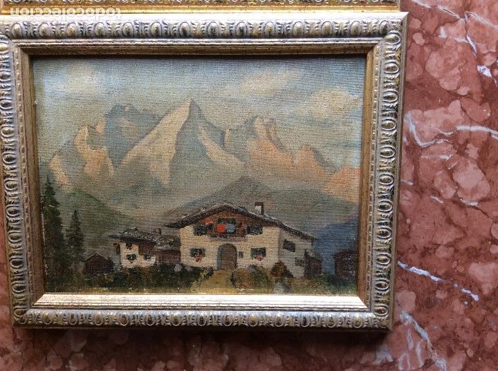 Arte: Paisajes antiguos lienzo 21cmx15,5cm óleos. - Foto 3 - 118708843
