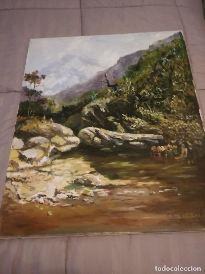CUADRO AL OLEO PAISAJE FIRMADO CABELLO (Arte - Pintura - Pintura al Óleo Antigua sin fecha definida)