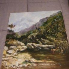 Kunst - cuadro al oleo paisaje firmado cabello - 118714131