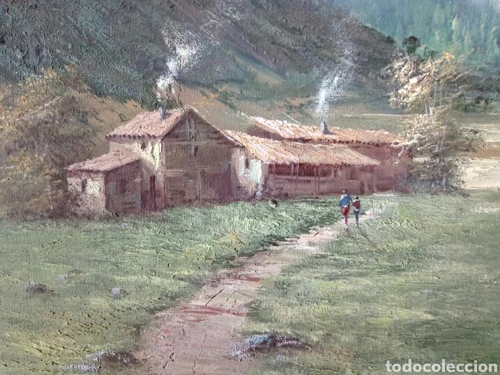 ANTIGUO PAISAJE, PRECIOSO, 112/85, OLEO EN LIENZO (Arte - Pintura - Pintura al Óleo Moderna sin fecha definida)