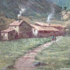 Arte: ANTIGUO PAISAJE, PRECIOSO, 112/85, OLEO EN LIENZO. Lote 118746611