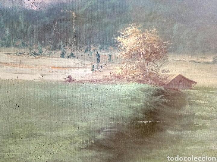 Arte: ANTIGUO PAISAJE, PRECIOSO, 112/85, Oleo en lienzo - Foto 2 - 118746611