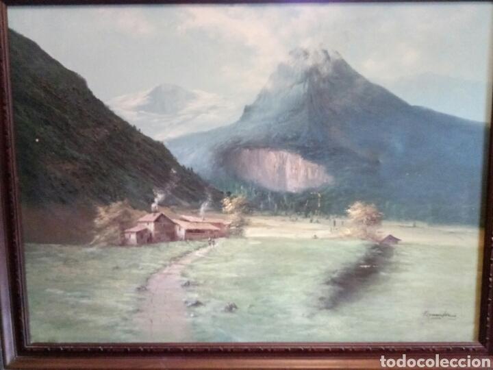 Arte: ANTIGUO PAISAJE, PRECIOSO, 112/85, Oleo en lienzo - Foto 4 - 118746611