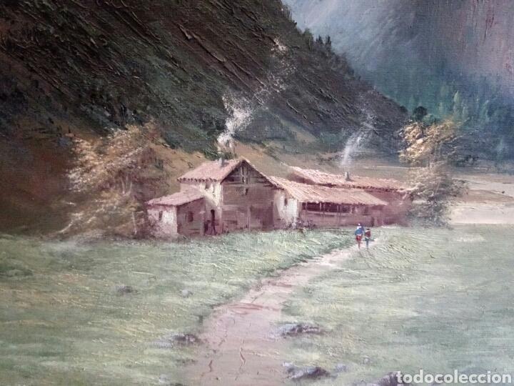 Arte: ANTIGUO PAISAJE, PRECIOSO, 112/85, Oleo en lienzo - Foto 5 - 118746611