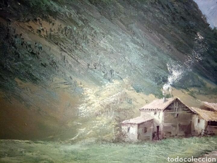 Arte: ANTIGUO PAISAJE, PRECIOSO, 112/85, Oleo en lienzo - Foto 8 - 118746611
