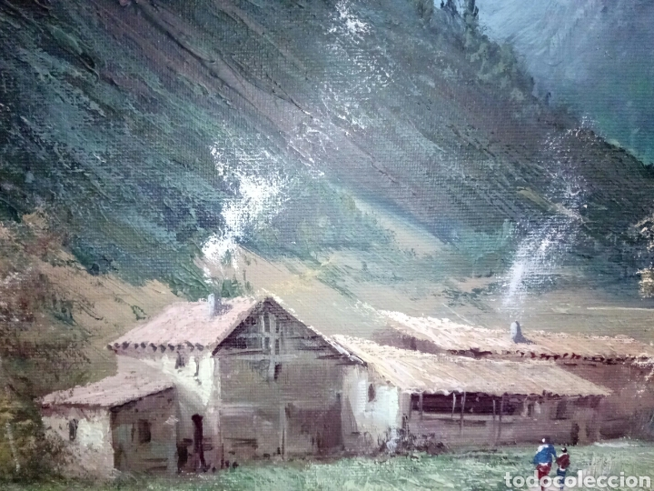 Arte: ANTIGUO PAISAJE, PRECIOSO, 112/85, Oleo en lienzo - Foto 9 - 118746611