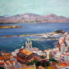 Arte: SIMÓ BUSOM GRAU (BARCELONA, 1921) OLEO SOBRE TELA DEL AÑO 1984. PORT DE LA SELVA. 73 CM. X 92 CM.. Lote 118799167
