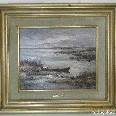 Arte: OLEO PAISAJE ALBUFERA RAFAEL DAROCA. Lote 129981866