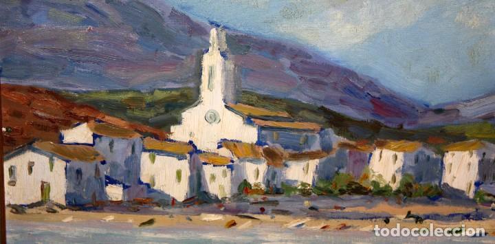 Arte: ANTONI TRULLS PONS (Manresa, 1925 - 2008) OLEO SOBRE TELA. VISTA DE PORT DE LA SELVA (GIRONA) - Foto 3 - 118869859