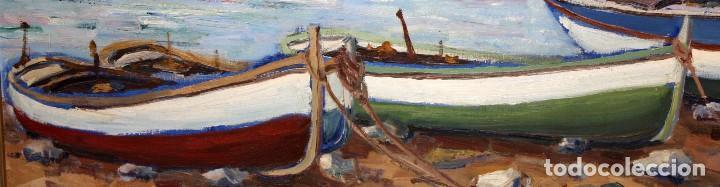 Arte: ANTONI TRULLS PONS (Manresa, 1925 - 2008) OLEO SOBRE TELA. VISTA DE PORT DE LA SELVA (GIRONA) - Foto 5 - 118869859