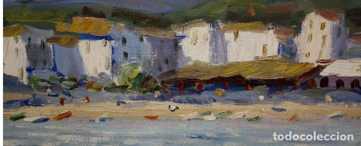 Arte: ANTONI TRULLS PONS (Manresa, 1925 - 2008) OLEO SOBRE TELA. VISTA DE PORT DE LA SELVA (GIRONA) - Foto 8 - 118869859