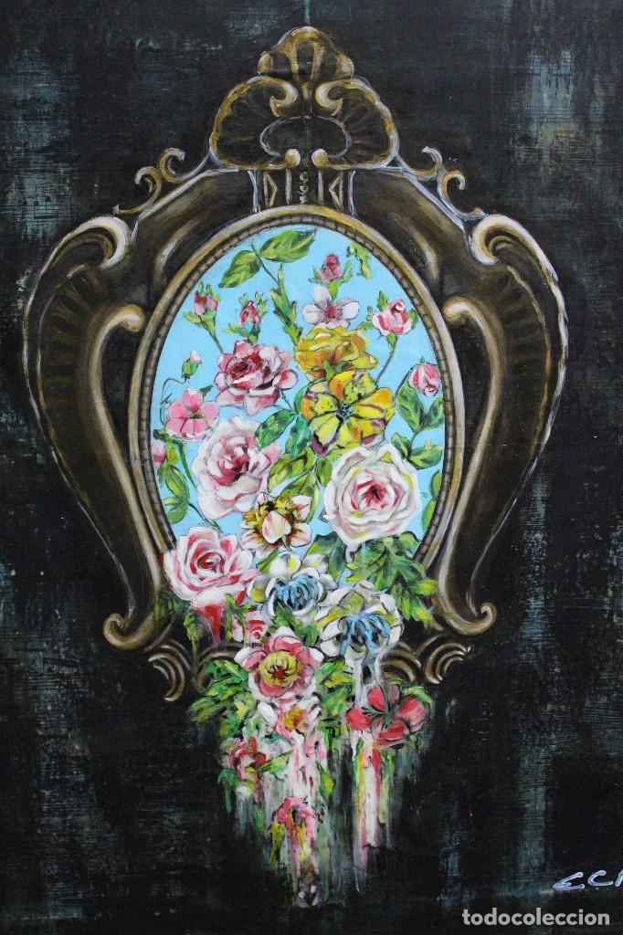 Arte: /Somete el oído al silencio de las flores/ Pintura sobre Partituras de música antiguas y lino. - Foto 11 - 118898363
