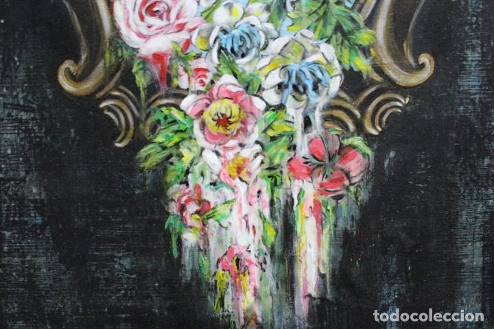 Arte: /Somete el oído al silencio de las flores/ Pintura sobre Partituras de música antiguas y lino. - Foto 12 - 118898363