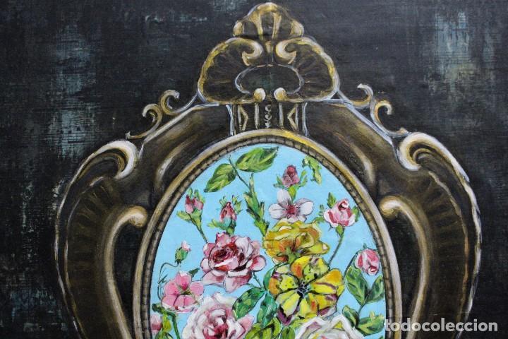 Arte: /Somete el oído al silencio de las flores/ Pintura sobre Partituras de música antiguas y lino. - Foto 13 - 118898363