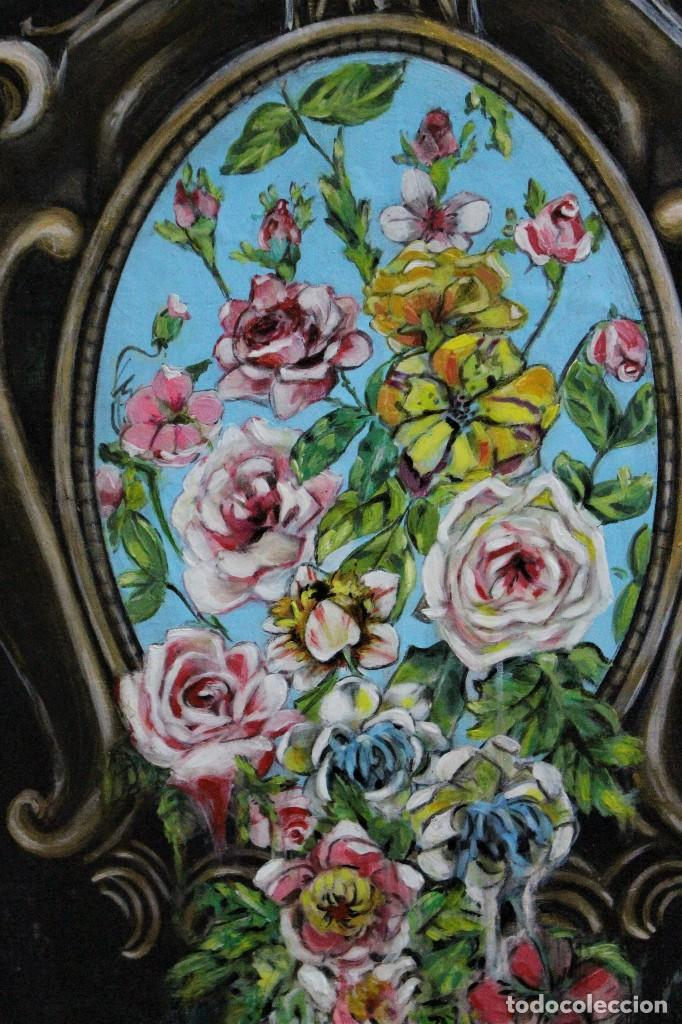 Arte: /Somete el oído al silencio de las flores/ Pintura sobre Partituras de música antiguas y lino. - Foto 14 - 118898363