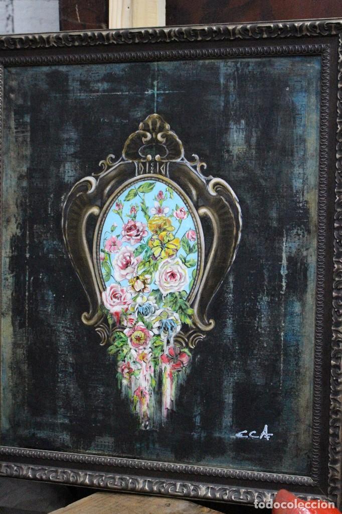 Arte: /Somete el oído al silencio de las flores/ Pintura sobre Partituras de música antiguas y lino. - Foto 18 - 118898363