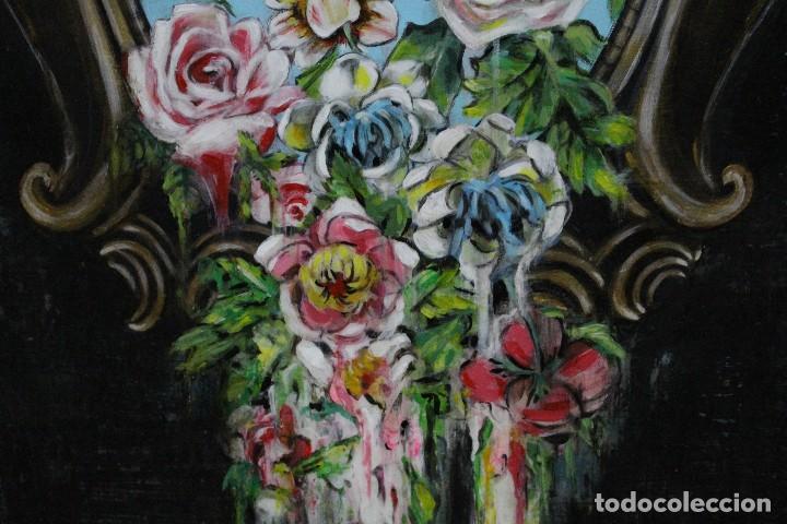 Arte: /Somete el oído al silencio de las flores/ Pintura sobre Partituras de música antiguas y lino. - Foto 19 - 118898363