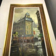 Arte: OLEO SOBRE TABLA. ESCENA PARISINA. FIRMADO PAYES. Lote 118948310