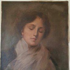 Arte: OLEO IMPRESIONISTA RETRATO DAMA FINALES S.XIX / PP. S.XX. Lote 119041566