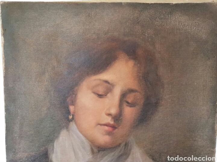 Arte: OLEO IMPRESIONISTA RETRATO DAMA FINALES S.XIX / PP. S.XX - Foto 5 - 119041566