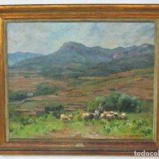 Arte: ÓLEO SOBRE TELA - RAMÓN BARNADAS (OLOT 1909 - GIRONA 1981) - PAISAJE - AÑO 1954. Lote 119058583