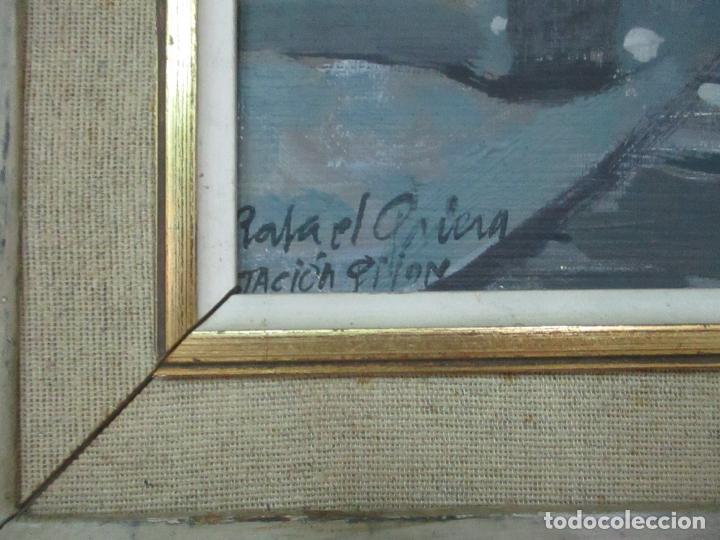 Arte: Óleo sobre Tela - Estación de Gijón - Rafael Griera Calderón (1939) - Foto 4 - 119060539