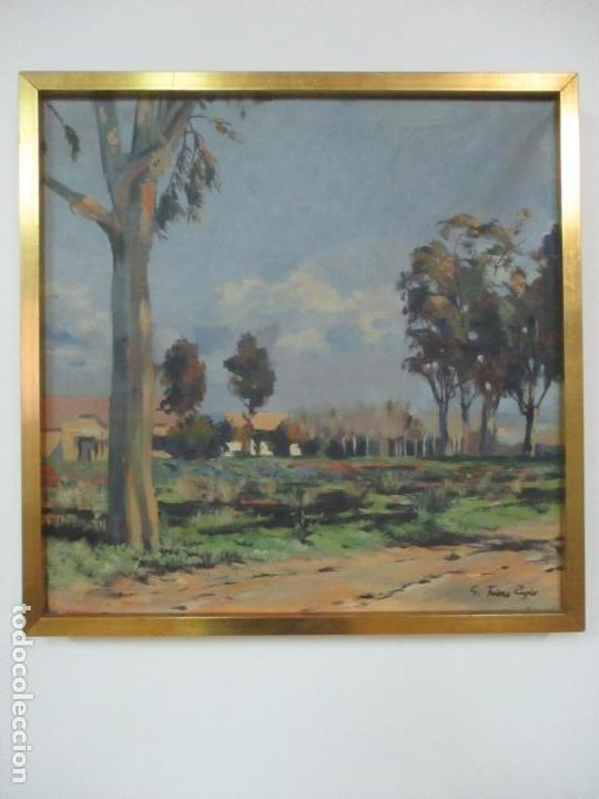 Arte: Óleo sobre Tela - Paisaje, Sabadell 1942 - Firma Fidel Trias Pages (Sabadell 1918 - 1971) - Foto 2 - 119062983