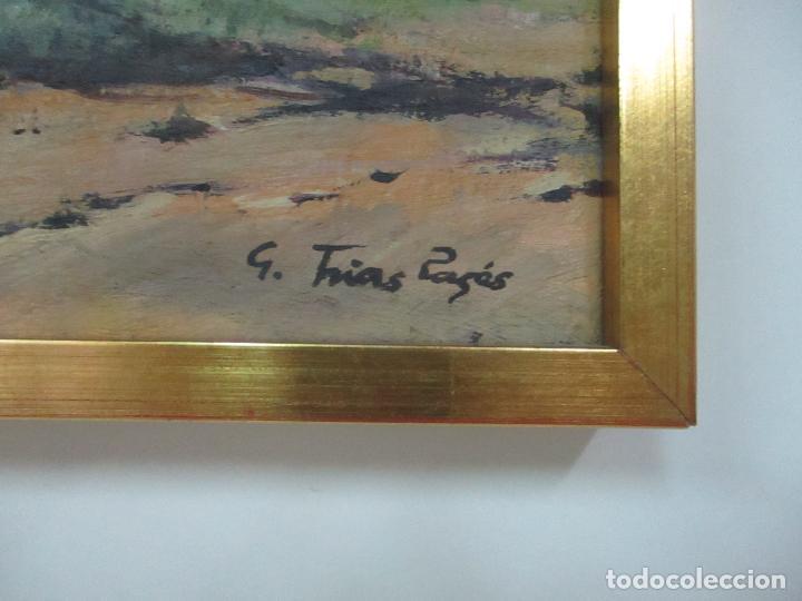 Arte: Óleo sobre Tela - Paisaje, Sabadell 1942 - Firma Fidel Trias Pages (Sabadell 1918 - 1971) - Foto 4 - 119062983