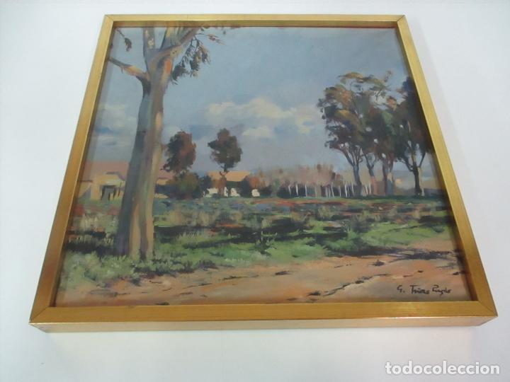 Arte: Óleo sobre Tela - Paisaje, Sabadell 1942 - Firma Fidel Trias Pages (Sabadell 1918 - 1971) - Foto 5 - 119062983