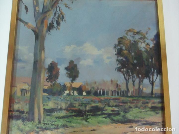 Arte: Óleo sobre Tela - Paisaje, Sabadell 1942 - Firma Fidel Trias Pages (Sabadell 1918 - 1971) - Foto 6 - 119062983
