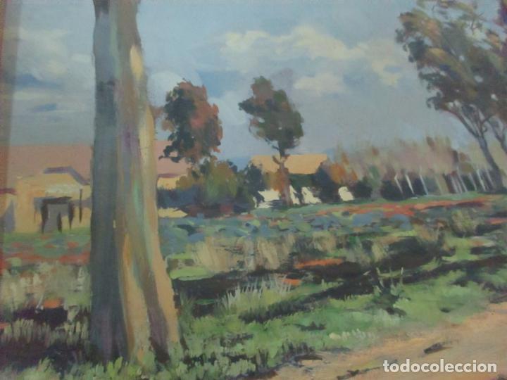Arte: Óleo sobre Tela - Paisaje, Sabadell 1942 - Firma Fidel Trias Pages (Sabadell 1918 - 1971) - Foto 7 - 119062983