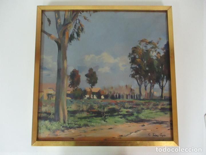 Arte: Óleo sobre Tela - Paisaje, Sabadell 1942 - Firma Fidel Trias Pages (Sabadell 1918 - 1971) - Foto 10 - 119062983