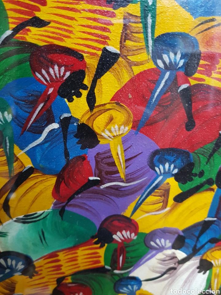 Arte: Cuadro arte africano firmado por S. Pochy - Foto 3 - 119228512