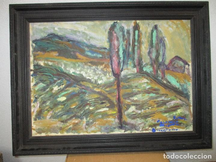 OBRA DE ESTEVE CASANOVA ZAPATA - SOLEDAD - 84 X 65 CM - ENMARCADO ADJUNTO BIOGRAFIA (Arte - Pintura - Pintura al Óleo Contemporánea )