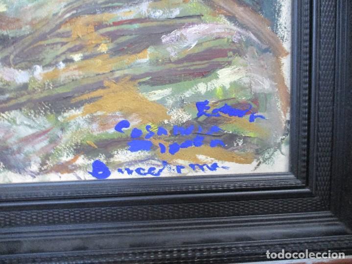 Arte: OBRA DE ESTEVE CASANOVA ZAPATA - SOLEDAD - 84 X 65 cm - ENMARCADO ADJUNTO BIOGRAFIA - Foto 2 - 161679049