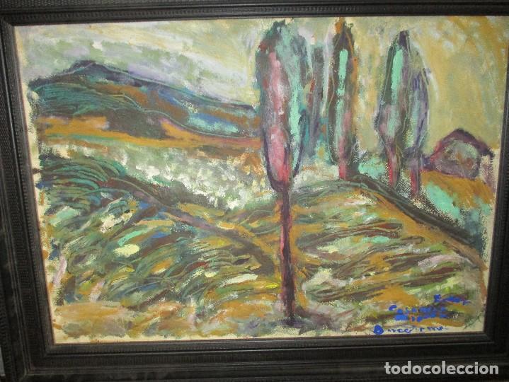 Arte: OBRA DE ESTEVE CASANOVA ZAPATA - SOLEDAD - 84 X 65 cm - ENMARCADO ADJUNTO BIOGRAFIA - Foto 3 - 161679049