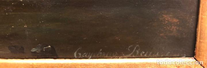 Arte: Cayetano Benavent i Rocamora. Siglo XIX. Marina nocturna. Óleo sobre tabla. - Foto 6 - 147790120