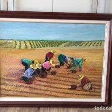 Arte: COLECCION CUADRO DANIELA RODRIGUEZ 1999, LOS HOMBRES EN EL CAMPO PERFECTO ESTADO. Lote 119529447