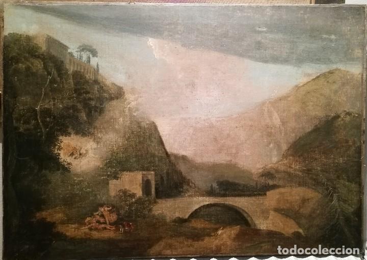DIANA Y ACTEON. ESCUELA ITALIANA DEL S.XVII (Arte - Pintura - Pintura al Óleo Antigua siglo XVII)