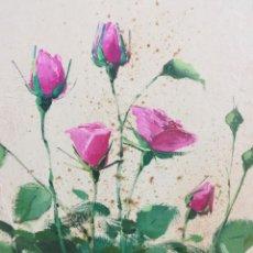 Arte: ROSAL ROSA MODERNO(BASTIDOR ANCHO) POR BONHOME. Lote 119549803