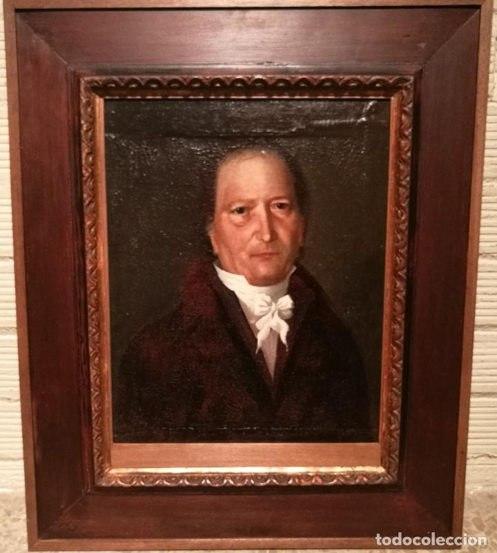 RETRATO DE CABALLERO ATRIBUIDO A FRANCISCO DE GOYA (1746-1828) (Arte - Pintura - Pintura al Óleo Antigua siglo XVIII)