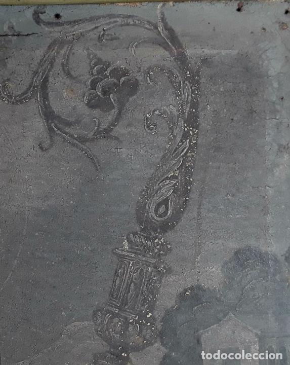 Arte: SANTA GERTRUDIS. ÓLEO SOBRE TELA. ANÓNIMO. ESCUELA ESPAÑOLA?. CIRCA S.XVIII. - Foto 5 - 119598683