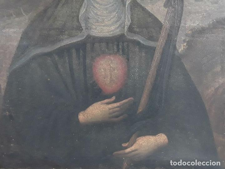 Arte: SANTA GERTRUDIS. ÓLEO SOBRE TELA. ANÓNIMO. ESCUELA ESPAÑOLA?. CIRCA S.XVIII. - Foto 8 - 119598683