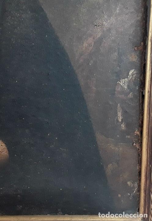 Arte: SANTA GERTRUDIS. ÓLEO SOBRE TELA. ANÓNIMO. ESCUELA ESPAÑOLA?. CIRCA S.XVIII. - Foto 12 - 119598683