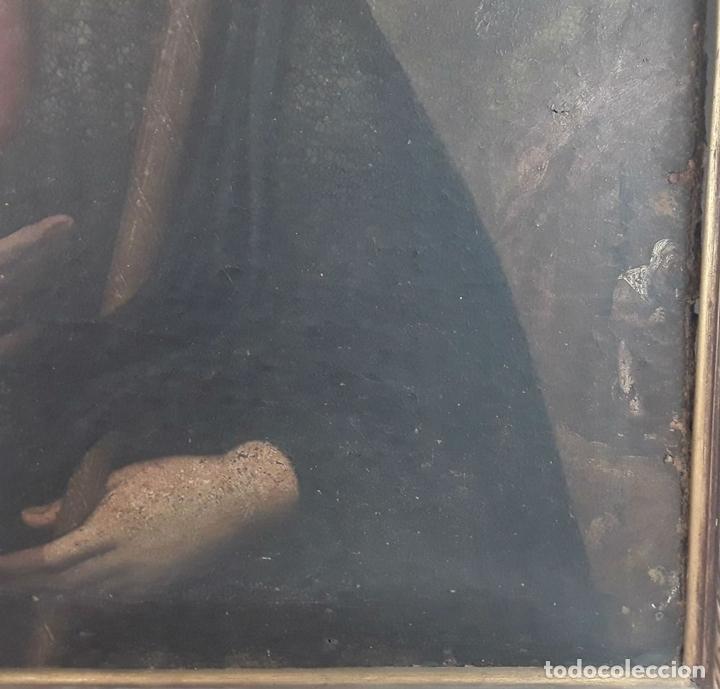 Arte: SANTA GERTRUDIS. ÓLEO SOBRE TELA. ANÓNIMO. ESCUELA ESPAÑOLA?. CIRCA S.XVIII. - Foto 13 - 119598683